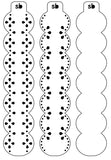 Lace Banner Blockers - 3 piece set / 3 sizes available
