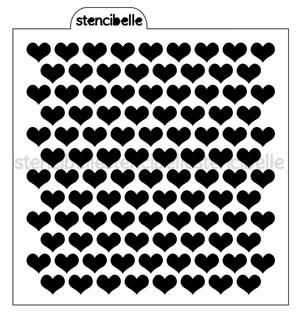 Mini Hearts Background Stencil