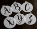 Mini Monogram Stencils - Individual Letters or Full Set