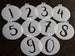Mini Number Stencils - Individual Numbers or Full Set