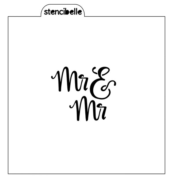Mr & Mr Stencil - 2 sizes available