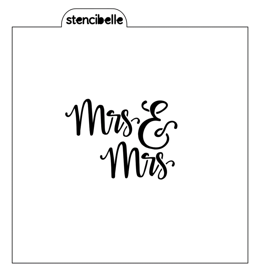 Mrs & Mrs Stencil - 2 sizes available