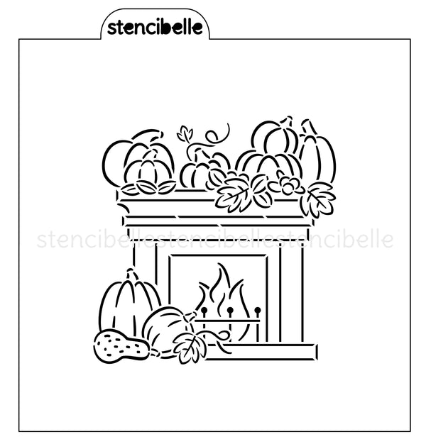 PYO Fall Fireplace Stencil