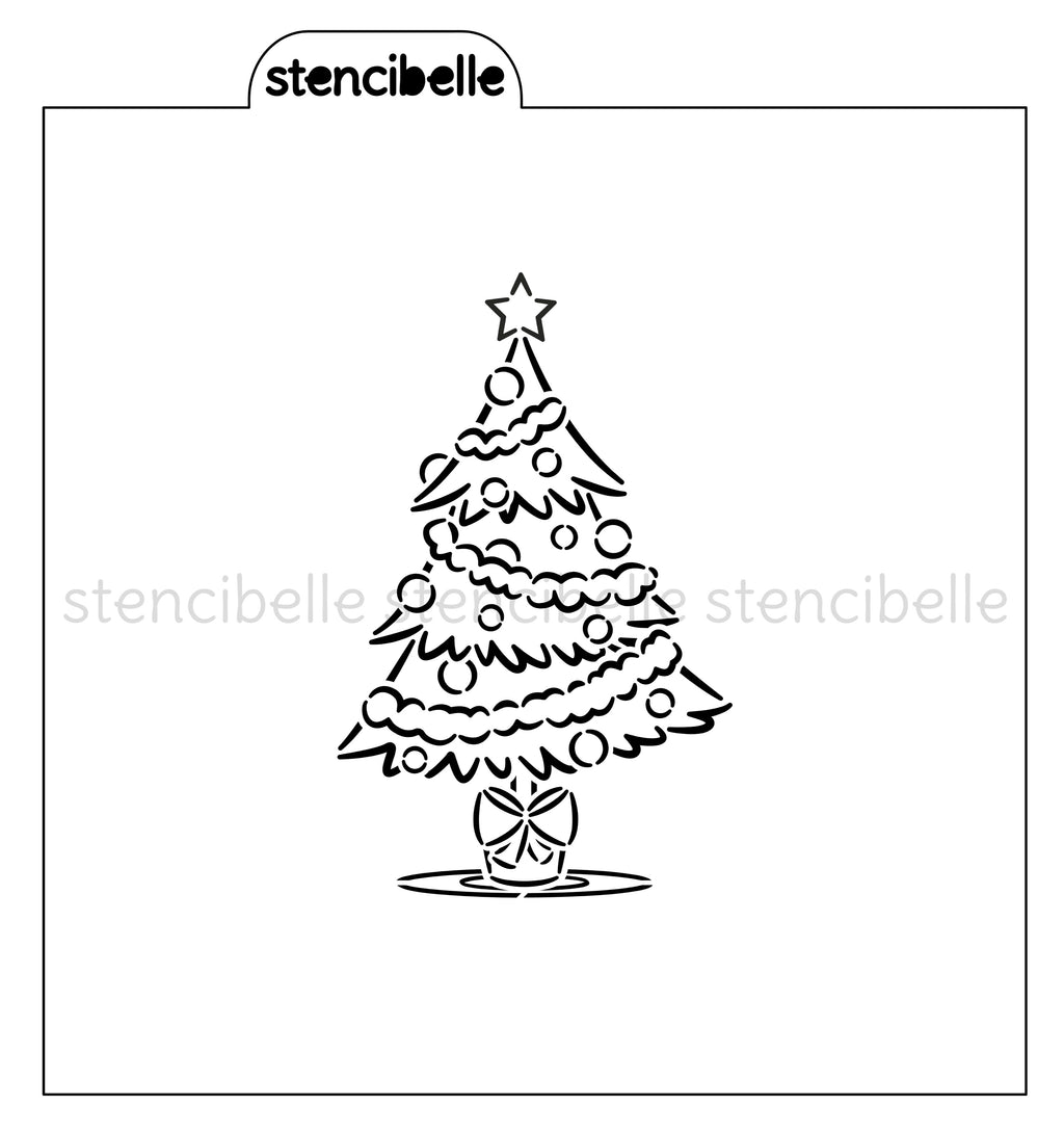 PYO Christmas Tree Stencil