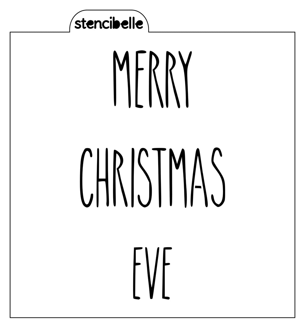 Christmas Skinny Lettering Stencils - 4 designs available