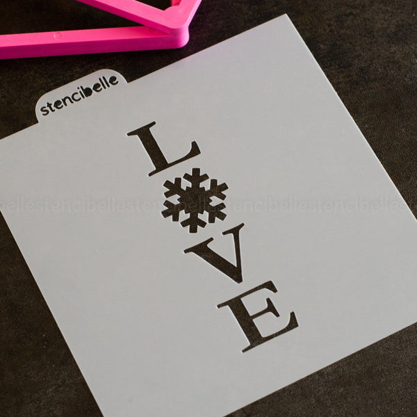 Snowflake Cookie Stick Collection - LOVE Stencil