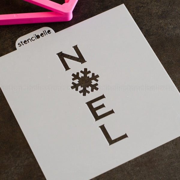 Snowflake Cookie Stick Collection - NOEL Stencil