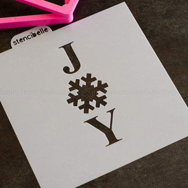 Snowflake Cookie Stick Collection - JOY Stencil