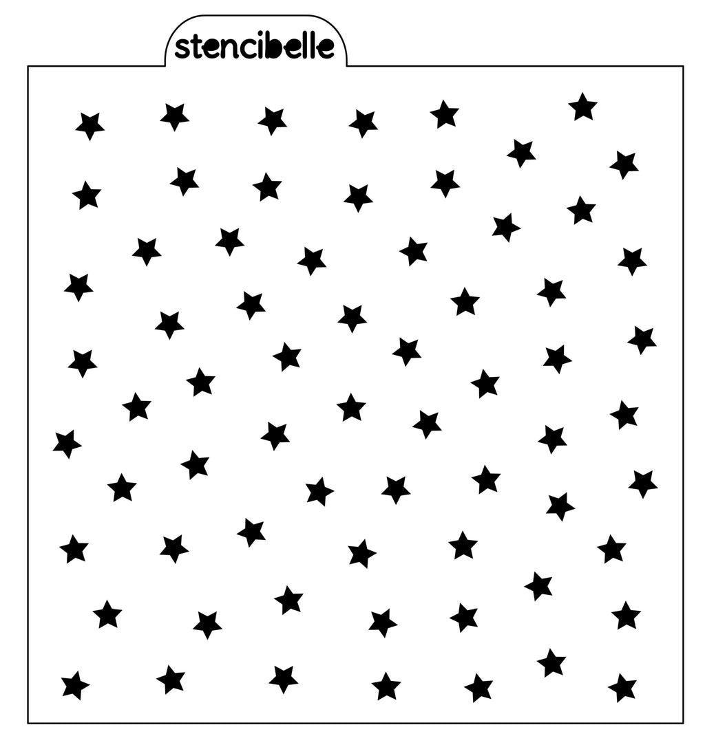 Tiny Scattered Stars Stencil
