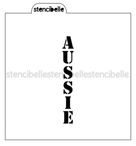 Aussie / Oi Oi Oi Cookie Stick Stencils - 2 piece