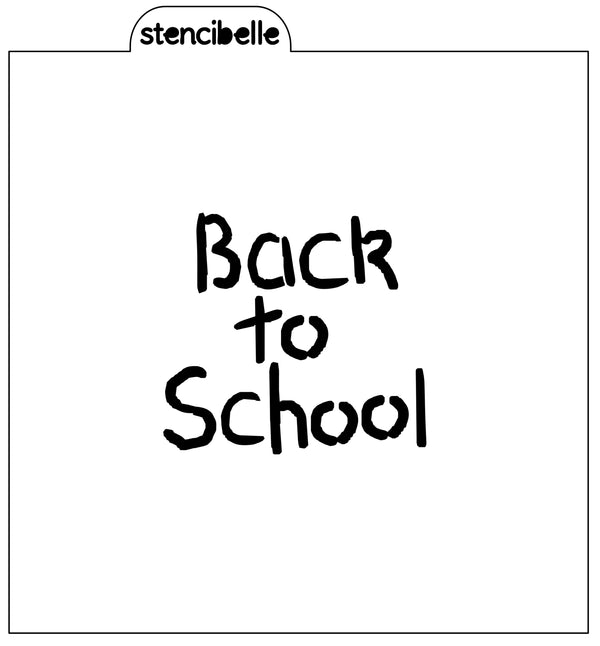 Back To School Stencil - 2 sizes available