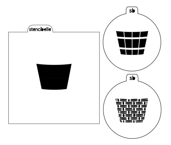 Basket 3 piece Stencil Set