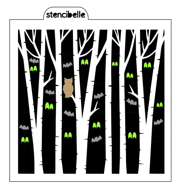 Birch Tree COMPANION Stencils - NOW available in 8 coordinating designs!