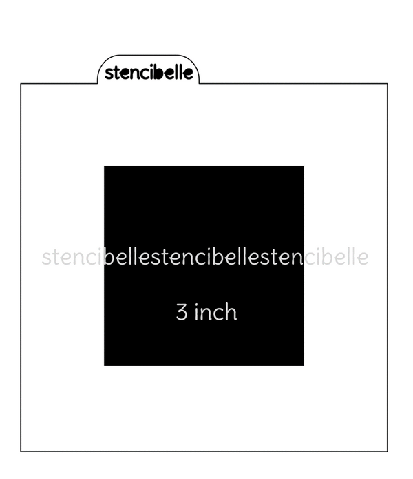 Square Blocker Stencil - Various Sizes