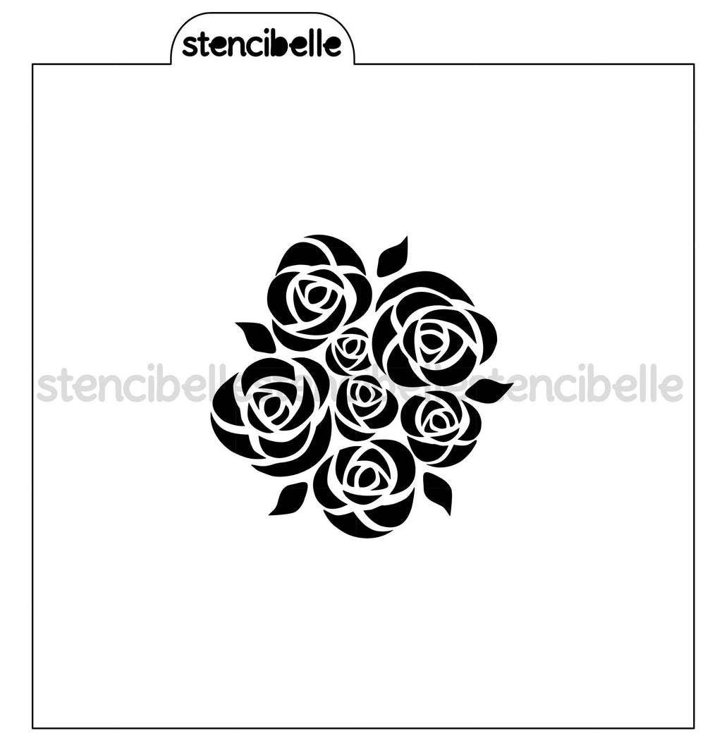 Bouquet of Roses Stencil - 2 sizes available