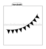 Bunting Flags Stencil
