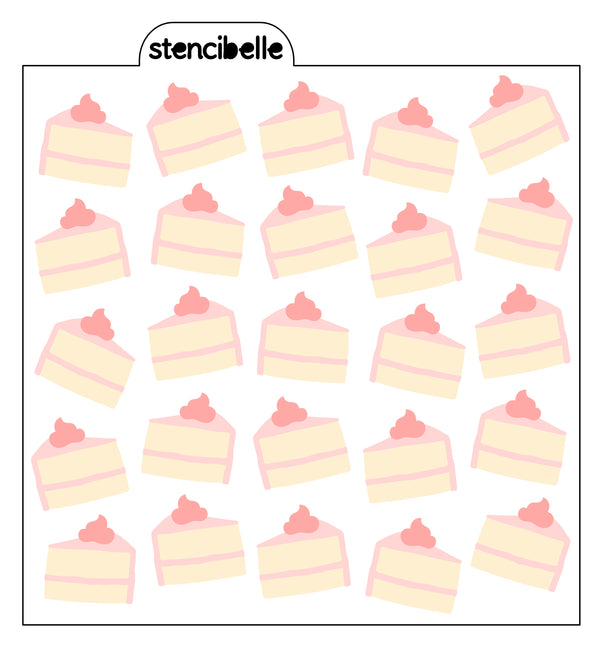 Slice of Cake Stencil Set - 3 piece