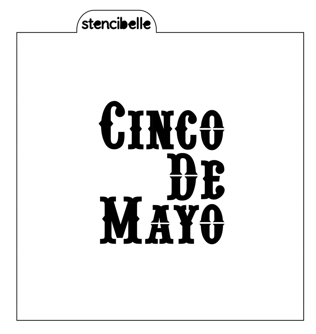 Cinco De Mayo Stencil - 2 sizes available