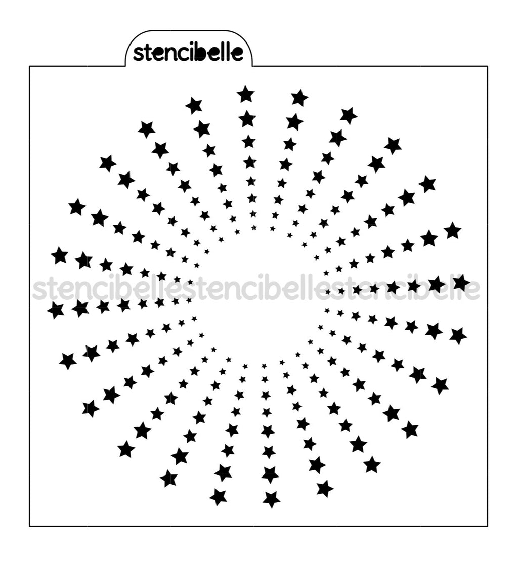 Circle Star Burst Stencil - Companion to Circle Sun Burst