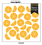 Citrus 3 piece Stencil Set