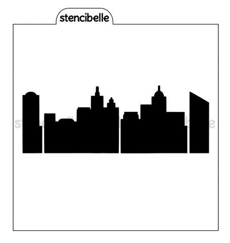 City Skyline 2 Piece Stencil Set