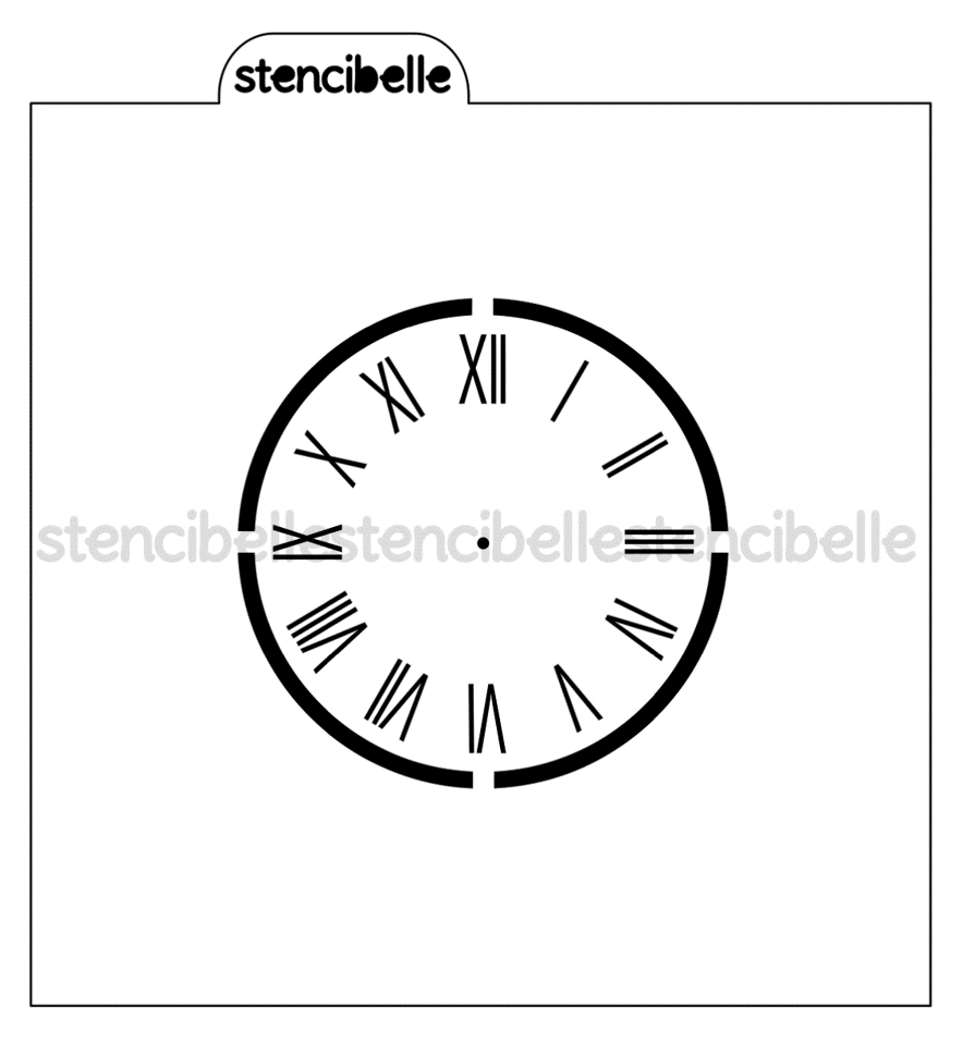 Clock Face Stencil - NOW in 3 sizes!