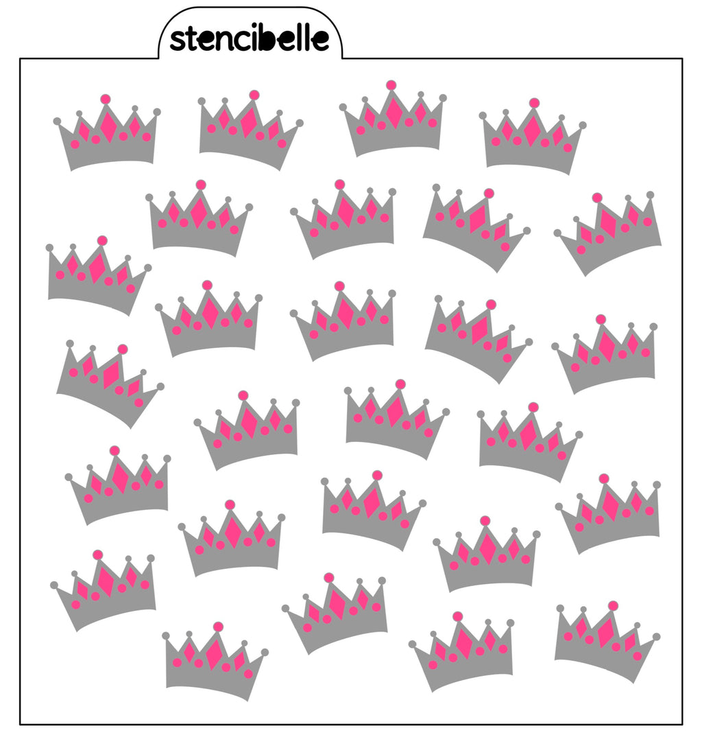 Magical Princess Crowns - 2 piece Stencil Set