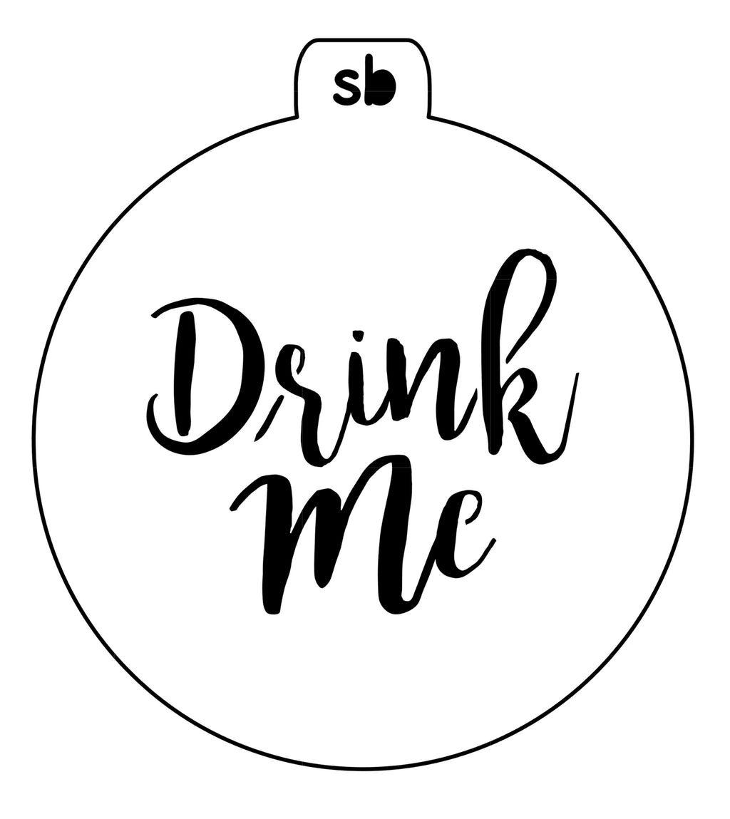 'Drink Me' Mini Stencil - 2 sizes available