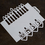 Menorah / Dreidel Double-Ended / Edger Stencil