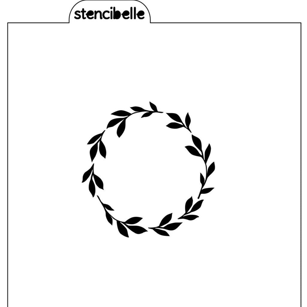 Emma Wreath Stencil - 2 sizes