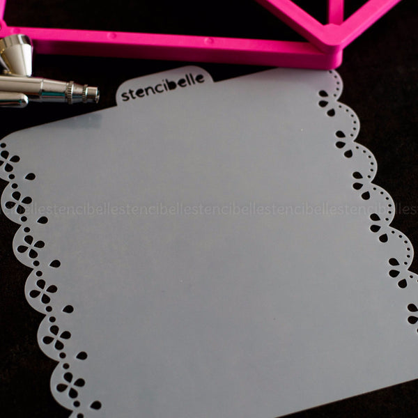 Eyelet Lace Double-Ended / Edger Stencil