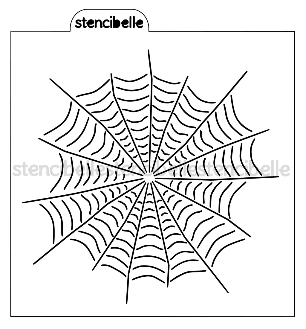 Full Spider Web Stencil