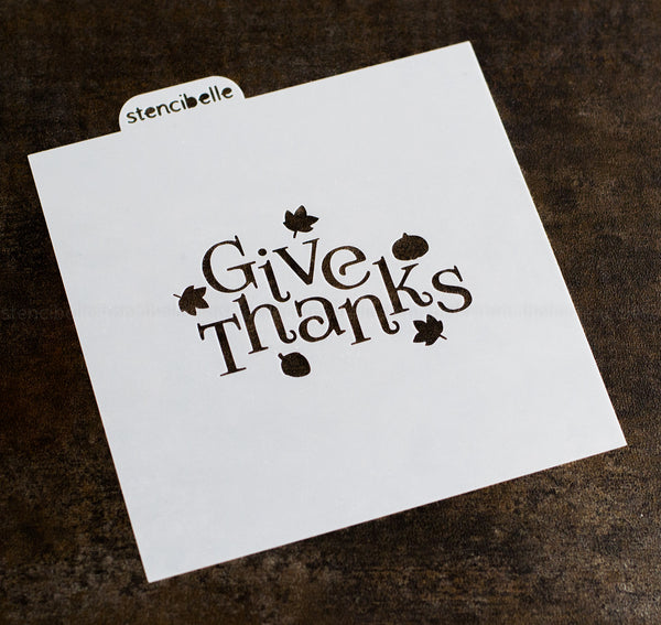 Give Thanks with Fall Accents Stencil