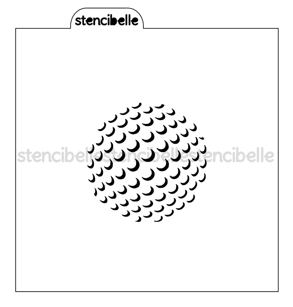 Golf Ball Stencil - 2 sizes