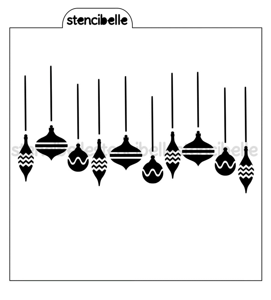 Hanging Ornaments Stencil