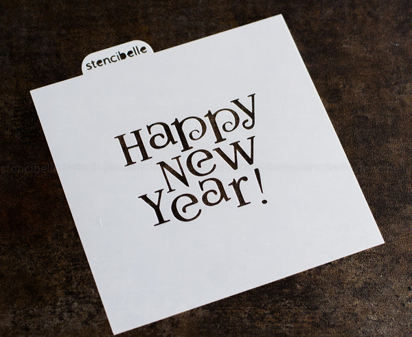 Happy New Year! Stencil - 2 sizes available