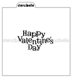 Happy Valentine's Day Stencil - 2 sizes available