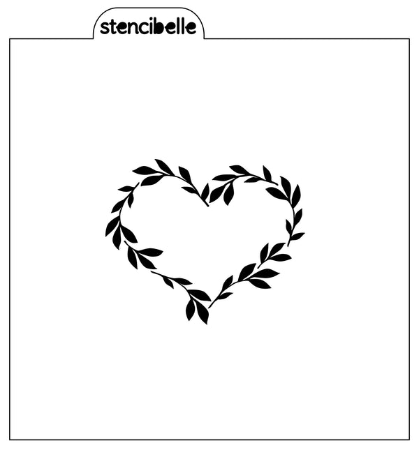 Heart Wreath Stencil - 2 sizes