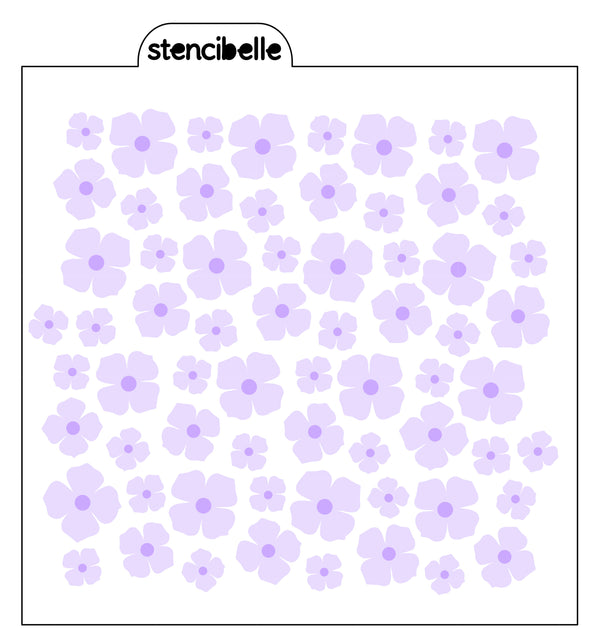 Hydrangea / Buttercups Stencil Sets - various options available