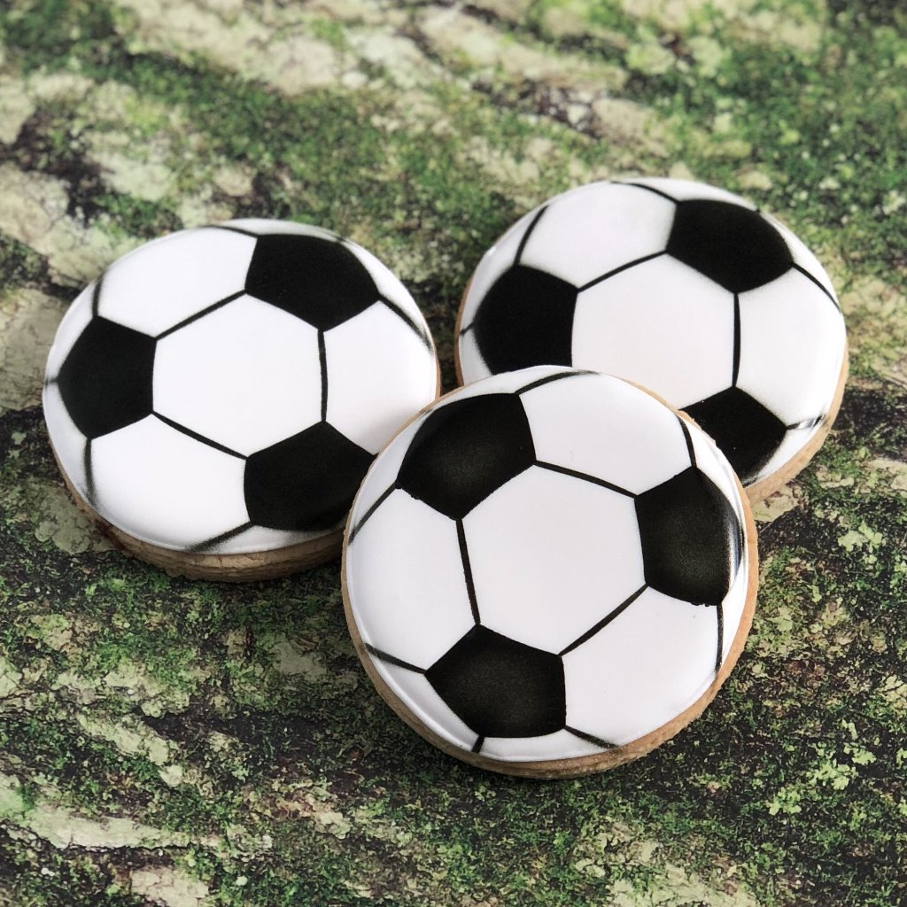 Soccer Ball 2 Piece Stencil Set - NOW Available in 3 sizes - NEW 2 inch