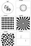 Wonderland Stencil Pack - 6 piece