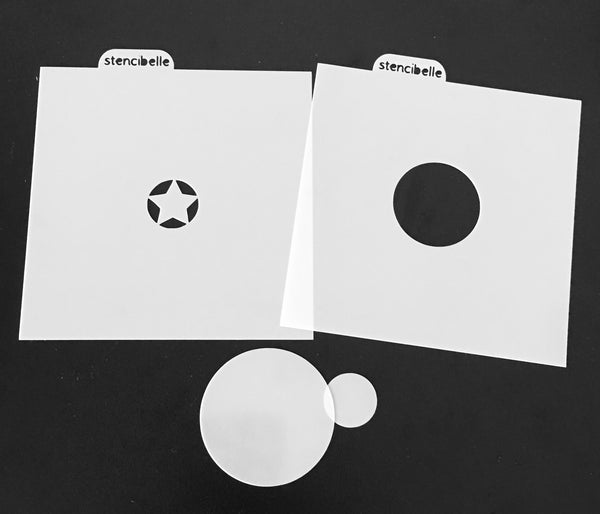 4 piece Star Shield Stencil Set