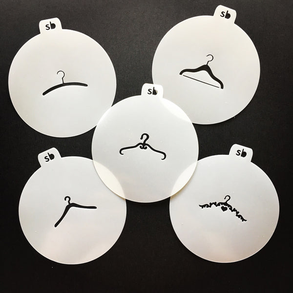 Hanger Minis Stencil - Available Individually or Set of 5