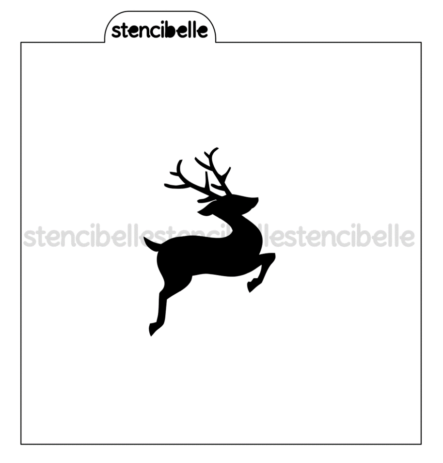 Leaping Reindeer Stencil