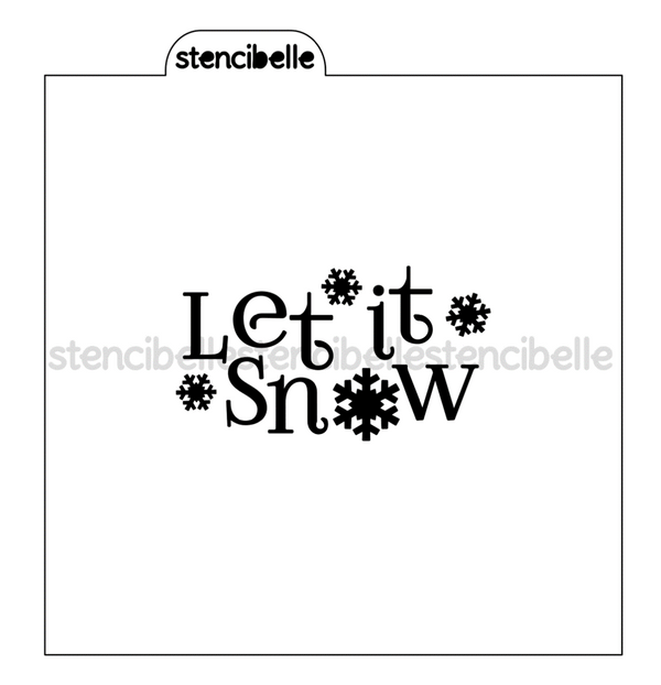 Let it Snow Stencil - 3 sizes