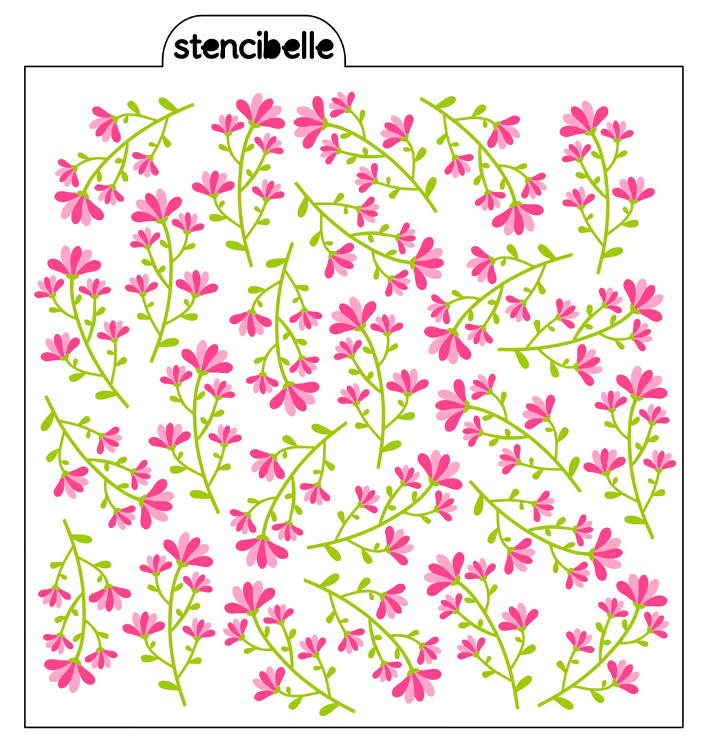 Lily Flowers Stencil Set - 2 or 3 piece