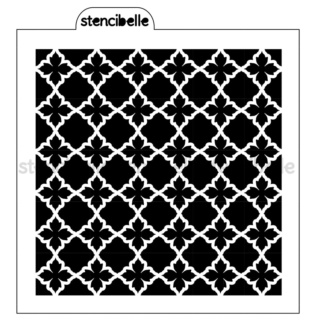 Lily Lattice Stencil - One or Two Piece Available