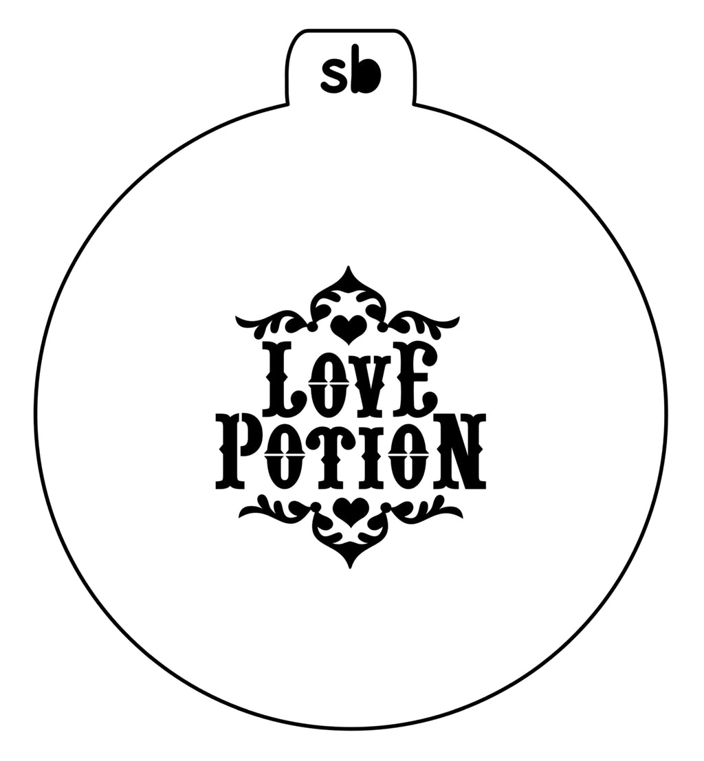 Love Potion Jar Label - Mini Stencil