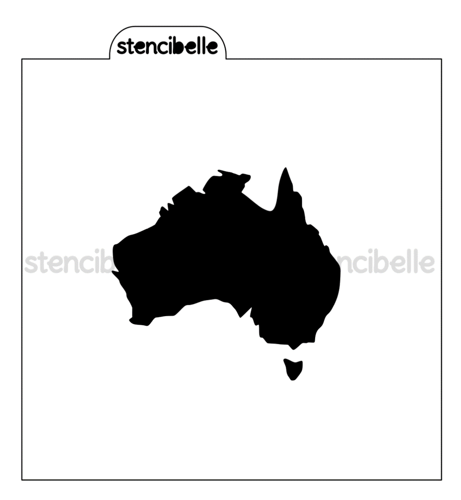 Australia Map Stencil - 2 sizes available