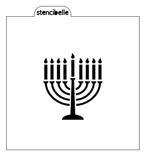 Menorah Stencil - 2 sizes available
